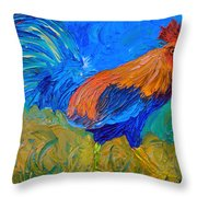 Mr. Rooster  Throw Pillow