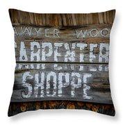 Mr. Sawyer Wood Throw Pillow