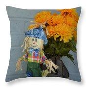 Mr Scarecrow Throw Pillow