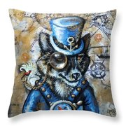 Mr. Sea Wolf Throw Pillow