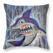 Mr. Shark Throw Pillow