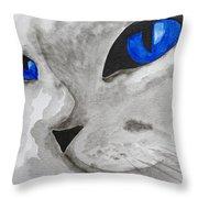 Mr Silver Throw Pillow
