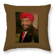 Mr. Singh Throw Pillow