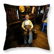 Mr. Smallwood And His Store Throw Pillow