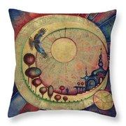 Mr Twardowski On The Moon Throw Pillow
