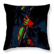 Mrmt #69 Enhanced In Cosmicolors #2 With Text Throw Pillow