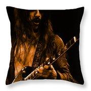 Mrmt #70 Enhanced In Amber Throw Pillow