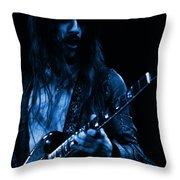 Mrmt #70 Enhanced In Blue Throw Pillow