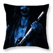 Mrmt #71 Enhanced In Blue Throw Pillow