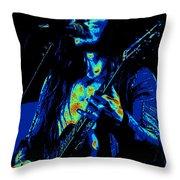 Mrmt #73 Enhanced In Cosmicolors Throw Pillow