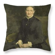 Mrs A.j. Zubli-maschhaupt, Pieter De Josselin De Jong, 1887 Throw Pillow