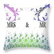 Mrs And Mr Throw Pillow