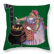 Mrs. Brown Preparing Supper Throw Pillow
