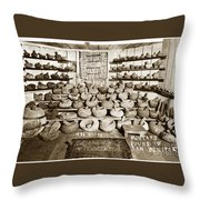 Mrs. Butts Mortar And Pestle Collection Found In San Benito Co. Throw Pillow