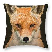 Mrs. Foxy Throw Pillow