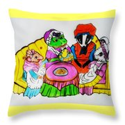 Mrs. Mouse Tea Party Throw Pillow