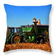 Mrs John Deere Throw Pillow