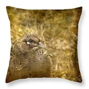 Mrs Pheasant Throw Pillow