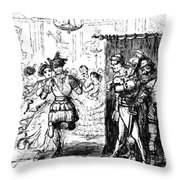 Mrs Sextus Consoles Herself With A Little Party Throw Pillow