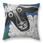 Mrs Sheep Throw Pillow