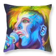 Mrs Ziggy Stardust Throw Pillow