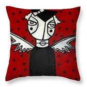 Mrs.creepy Throw Pillow by Thomas Valentine