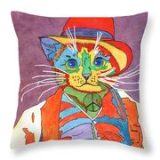 Mr.wisker For Peace Throw Pillow