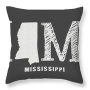 Ms Home Throw Pillow by Nancy Ingersoll