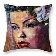 Ms. Lady Day Throw Pillow