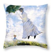 Ms Monet Blown Away  Throw Pillow