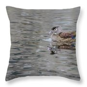Ms. Wood Duck Throw Pillow