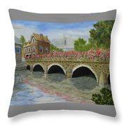 Ms23 French Stone Bridge  Throw Pillow