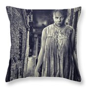 Mss Creepy Throw Pillow