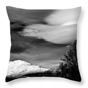 Mt Adams With Lenticular Cloud Throw Pillow