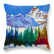 Mt. Athabasca, Jasper Throw Pillow