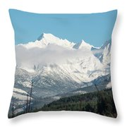 Mt Baker And Clouds Throw Pillow