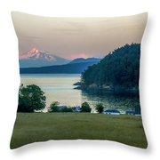 Mt Baker At Sunset Throw Pillow