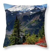 Mt. Baker Autumn Throw Pillow