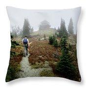 Mt Brown Lookout - Glacier National Park Throw Pillow
