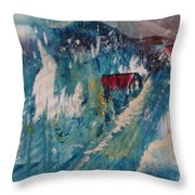 Mt Cabins Throw Pillow by Gregory Dallum