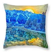 Mt Currie Fantasy Throw Pillow
