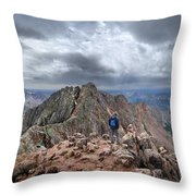 Mt Eolus And The Catwalk From North Eolus - Chicago Basin - Weminuche Wilderness - Colorado Throw Pillow