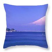 Mt Fuji Kanagawa Japan Throw Pillow