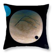 Mt Fuji Moon Throw Pillow