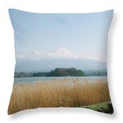 Mount Fuji View Throw Pillow