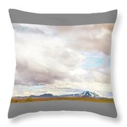 Mt Hekla Throw Pillow