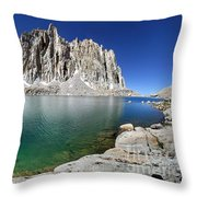 Mt Hitchcock Over Lower Hitchcock Lake 2 - Sierra Throw Pillow