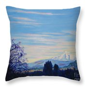 Mt Hood A View From Gresham Throw Pillow