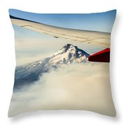 Mt Hood Aerial View Throw Pillow