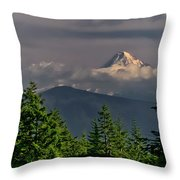 Mt Hood From Grassy Knoll Throw Pillow